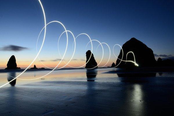 ser intuitivo luz na praia